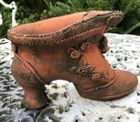 Gypsy shoe small garden planter stone garden ornament